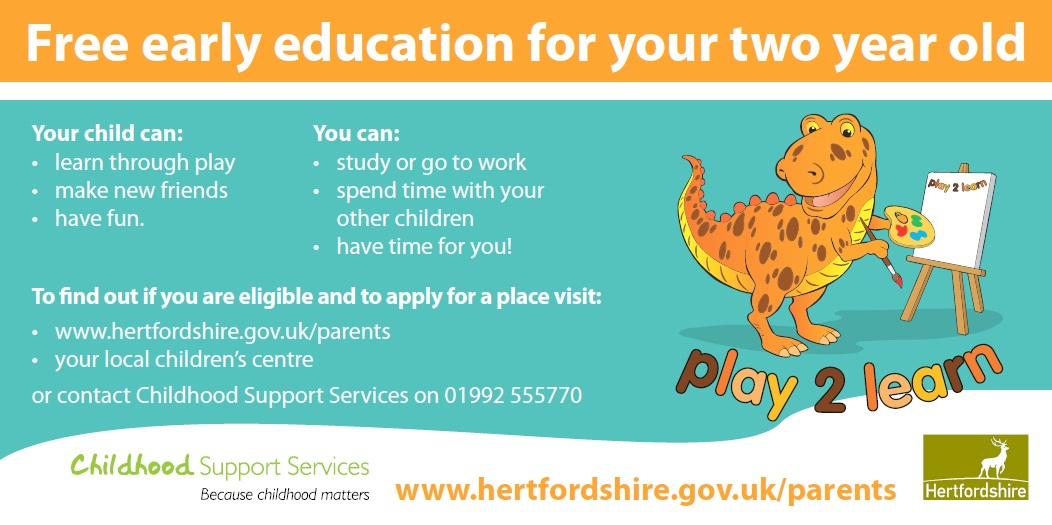 Free early education for your two year old
